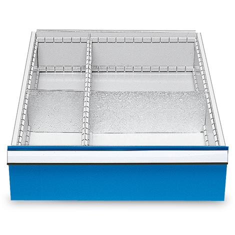 Schubladeneinteilung mit 4 Fächern, Höhe 150 mm