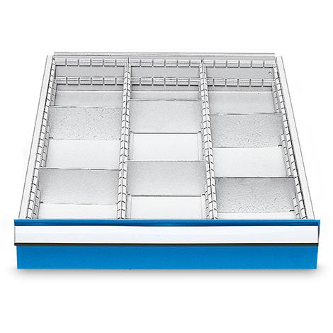Schubladeneinteilung mit 9 Fächern, Höhe 150 mm