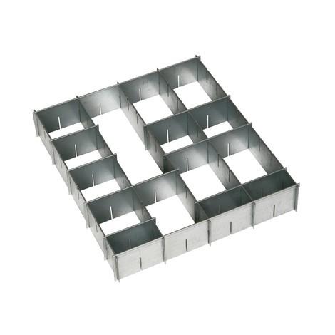 schubladeneinteilung verzinkt f r materialschrank. Black Bedroom Furniture Sets. Home Design Ideas