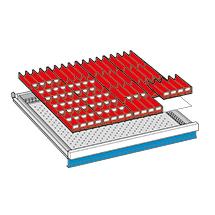 Schubladeneinteilungen für Schubladenschränke. Breite 717 mm