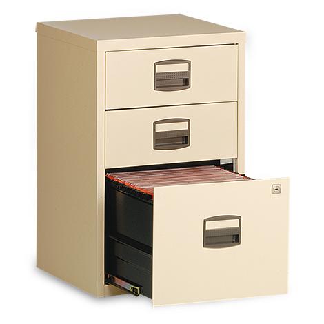 Schubladenschränke Premium, o. Rollen, 2 Materialschübe+1 Hängeregistratur