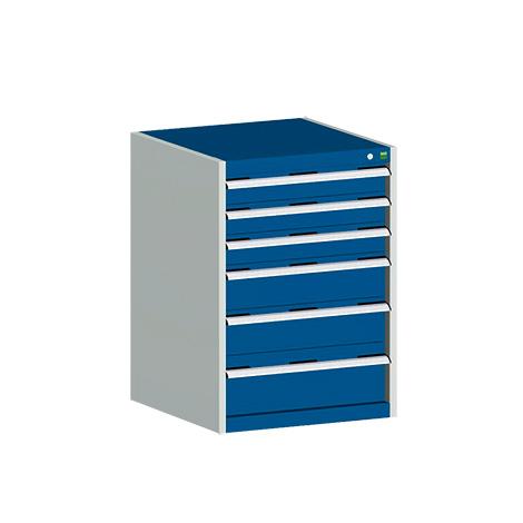 Schubladenschrank bott cubio. HxT mm 900 x 650. Tragkraft je Schubl. 200 kg
