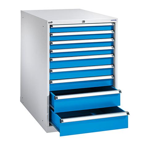 Schubladenschrank, Höhe 100 cm, 100 % Auszug, 9 Schubladen