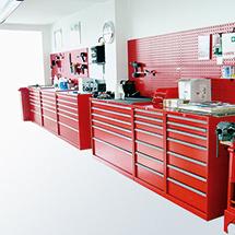 Schubladenschrank, Höhe 85 cm, 100 % Auszug, 6 Schubladen