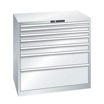 Schubladenschrank LISTA, Schubladen 1x100 + 4x150 + 1x200 mm, TK je 200 kg