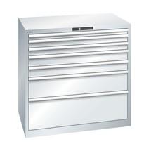 Schubladenschrank LISTA, Schubladen 1x50 + 2x75 + 2x100 + 1x200 + 1x300 mm, TK 200 kg
