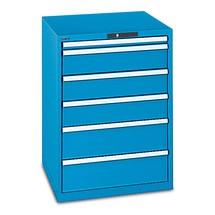 Schubladenschrank LISTA, Schubladen 1x50 + 2x75 + 2x100 + 1x200 + 1x300 mm, TK je 75 kg, Breite  1.023 mm