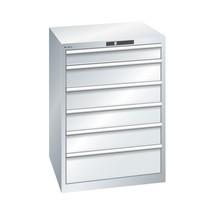 Schubladenschrank LISTA, Schubladen 1x50 + 2x75 + 2x100 + 2x150 + 1x200 mm, TK 75 kg