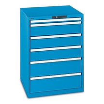 Schubladenschrank LISTA, Schubladen 1x50 + 2x75 + 2x100 + 2x150 + 1x200 mm, TK je 200 kg, Breite  1.023 mm