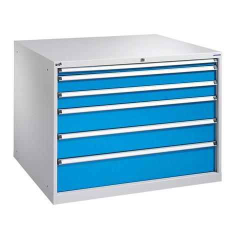 Schubladenschrank mit Vollauszug, Schubladen 2x75 + 2x100 + 1x150 + 1x250, Breite 718 mm
