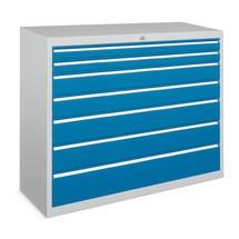 Schubladenschrank PAVOY, Höhe 1.000 mm, Schubladen 8x75 + 1x100 + 1x200 mm, Breite 715 mm