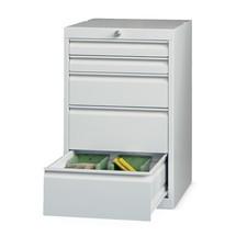Schubladenschrank PAVOY, Höhe 800 mm, Schubladen 2x70 + 1x150 + 2x200 mm, Breite 500 mm