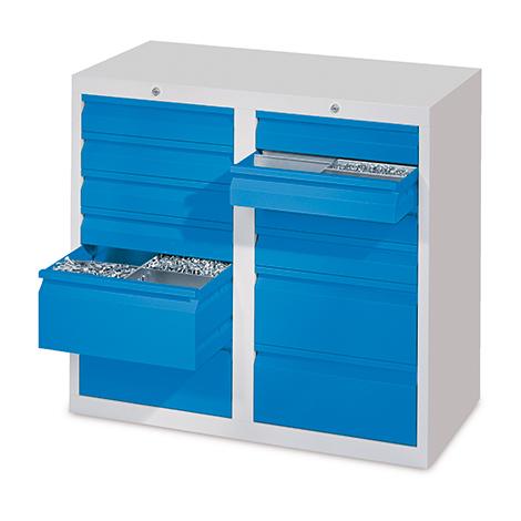 Schubladenschrank PAVOY mit 10 Schubladen, Gleitführung
