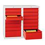 Schubladenschrank PAVOY mit 12 Schubladen, Gleitführung