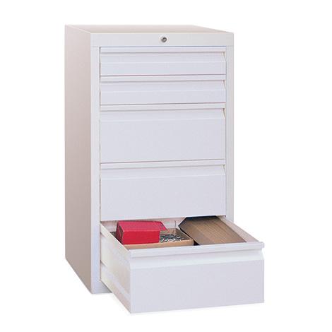Schubladenschrank PAVOY mit 4 Schubladen, Gleitführung
