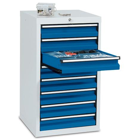 Schubladenschrank Premium mit Rollenführung. 900 x 500 mm (H x B)