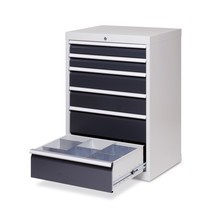 Schubladenschrank Profi, Schubladen 9x100 mm, HxBxT 1.019 x 980 x 500 mm