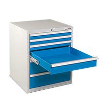 Schubladenschrank Steinbock®. HxBxT mm: 850x1010x690. Mit 7 Schubladen.