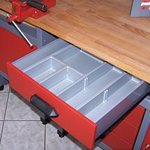 Schubladenunterteilung aus Kunststoff