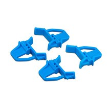 Schuifsluitingen voor euro-stapelbakken met rode/blauwe handgrepen