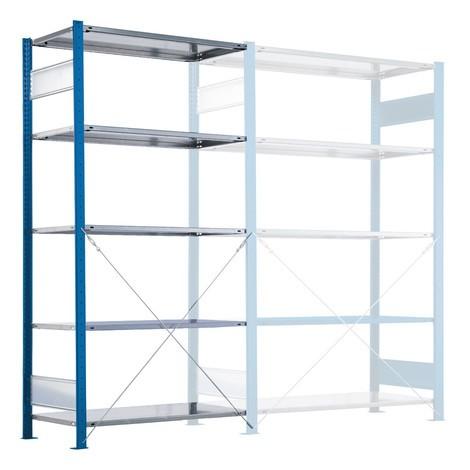 SCHULTE scaffalatura a ripiani, montaggio a innesto, carico 330 kg, blu genziana/zincato