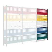 Schulte - scaffalatura per documenti, lato singolo, con fermi terminali, portata: 85 kg, colore: Nero