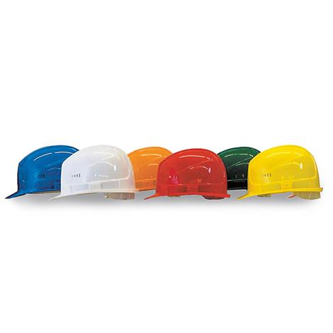 Schutzhelm BASIC aus Polyethylen mit 4- oder 6-Punkt-Gurtband