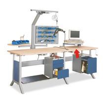 Schwenkarm mit Monitorhalterung und Tastaturauflage für Arbeitstisch