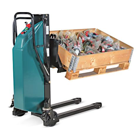 Schwenkbarer Palettenheber, elektrisch. Tragkraft 800kg