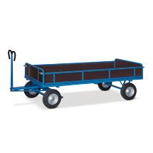 Schwerer Handpritschenwagen mit Bordwänden. Tragkraft 1500 kg