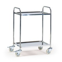 Schwerer Servierwagen HUPFER® aus Edelstahl