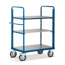 Schwerlast-Etagenwagen Rotauro mit 2 Gitterwänden. Tragkraft 1200kg