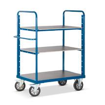 Schwerlast-Etagenwagen Rotauro mit 3 oder 4 Böden. Tragkraft 1200kg