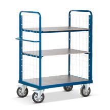 Schwerlast-Etagenwagen Rotauro mit Schrank und 2 Gitterwänden. Tragkraft 1200kg