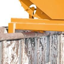 Schwerlast-Kippbehälter, Tragkraft 4.000 kg, lackiert, Volumen 1,2 m³