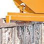 Schwerlast-Kippbehälter Typ 600, Tragkraft 4000 kg, Volumen 0,6 m², lackiert