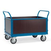 Schwerlast-Plattformwagen mit 4 Wänden. Tragkraft 1200kg