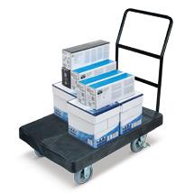 Schwerlast-Plattformwagen. Plattform aus HDPE. Tragkraft 454 kg