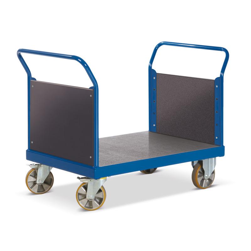 Schwerlast-Plattformwagen Rotauro mit 2 Stirnwänden. Tragkraft bis 2200kg