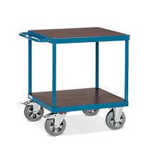 Schwerlast-Tischwagen fetra® mit 2 Etagen. Tragkraft 1200 kg