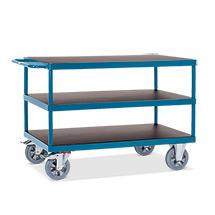 Schwerlast-Tischwagen fetra® mit 3 Etagen. Tragkraft 1200 kg