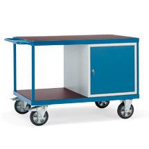 Schwerlast-Tischwagen mit 2 Etagen + 1 Schrank. Tragkraft 1200 kg
