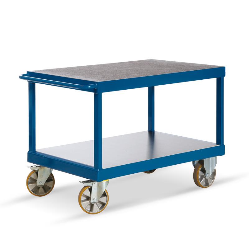Schwerlast-Tischwagen Rotauro mit 2 Etagen. Tragkraft bis 2200kg