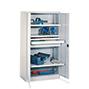 Schwerlastschrank Premium mit 3 Böden + 2 Schubladen á 17,5 cm, Tragkraft 1300 k