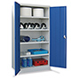 Schwerlastschrank Premium mit 3 Böden + 3 Schubladen á 12,5 cm, Tragkraft 1300 k