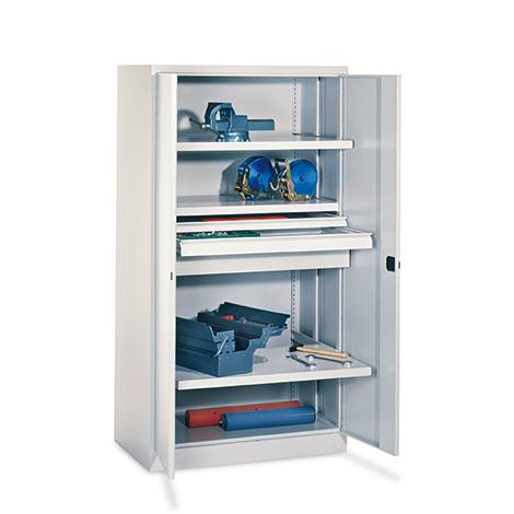 Schwerlastschrank Premium mit 3 Böden + 3 Schubladen á 17,5 cm, Tragkraft 1300 k