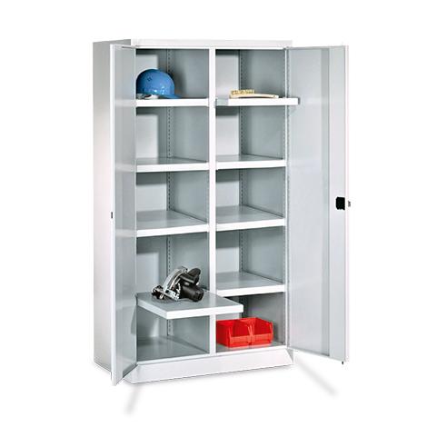 Schwerlastschrank Premium mit 6 Böden + 4 Schubladen á 17,5 cm, Tragkraft 1300 k
