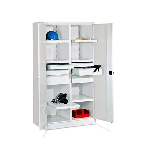 Schwerlastschrank Premium mit 6 Böden + 6 Schubladen á 17,5 cm, Tragkraft 1300 k