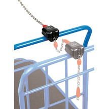 Ścienny łańcuch zaczepowy do wózka Cash-'n'-Carry fetra®