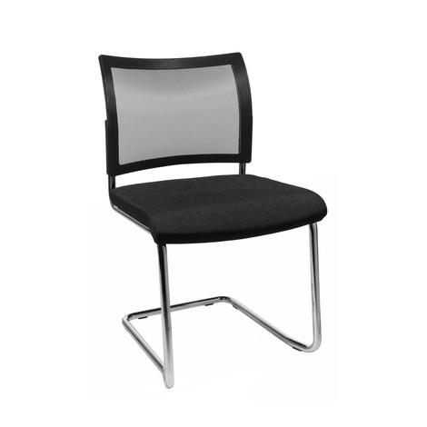 Sedia cantilever Topstar® New Age con schienale in rete